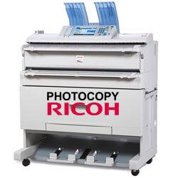 Thuê máy photocopy khổ lớn A0 RICOH MP W3601 scan màu, in khổ A0