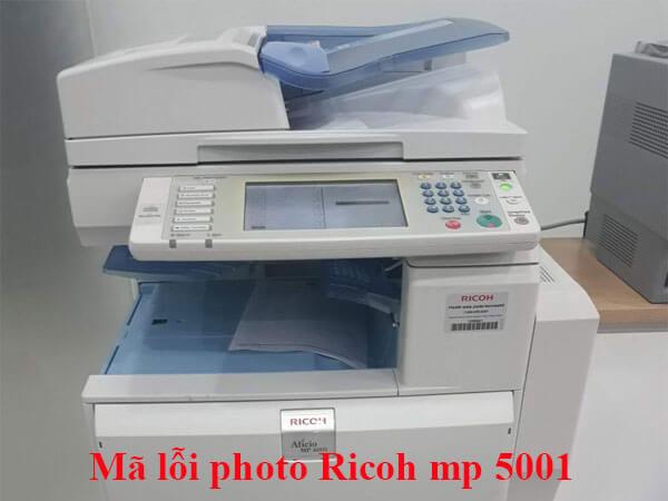 Bảng mã lỗi máy photocopy Ricoh mp 4001/5001 đầy đủ và chi tiết